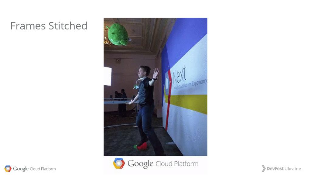 #dfua, @tekgrrl, @googlecloud Frames Stitched