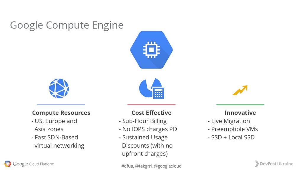 #dfua, @tekgrrl, @googlecloud Compute Resources...