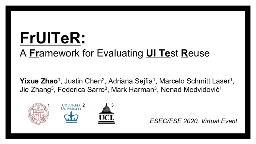 FrUITeR: A Framework for Evaluating UI Test Reu...