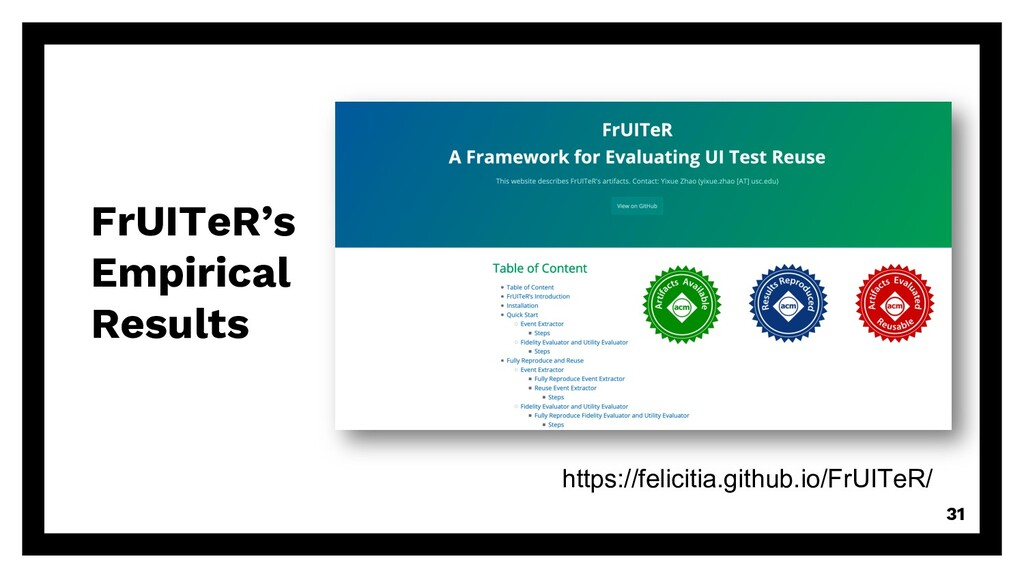 FrUITeR's Empirical Results 31 https://feliciti...