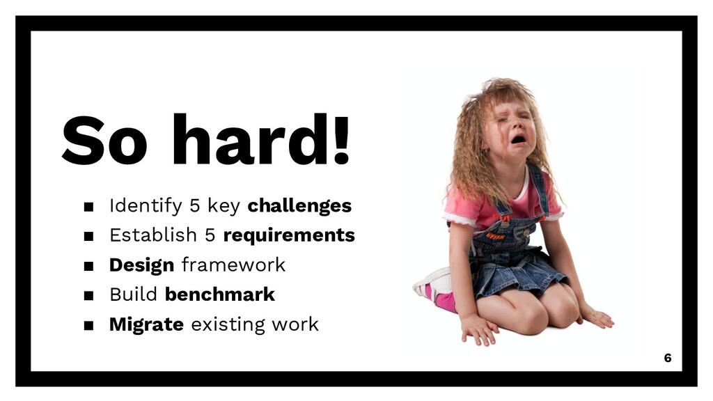 So hard! ▪ Identify 5 key challenges ▪ Establis...