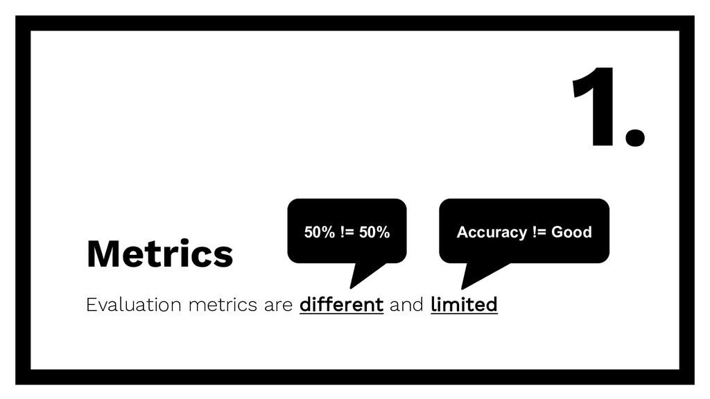 Metrics Evaluation metrics are different and li...