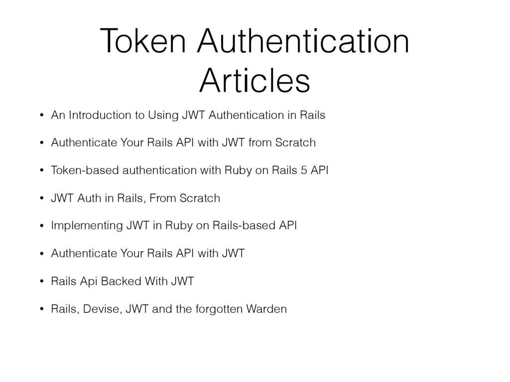 Token Authentication Articles • An Introduction...