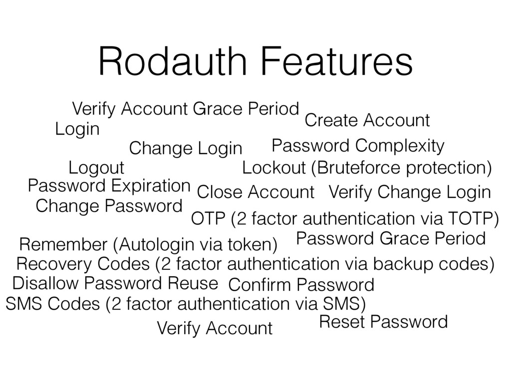 Rodauth Features Login Logout Change Password C...