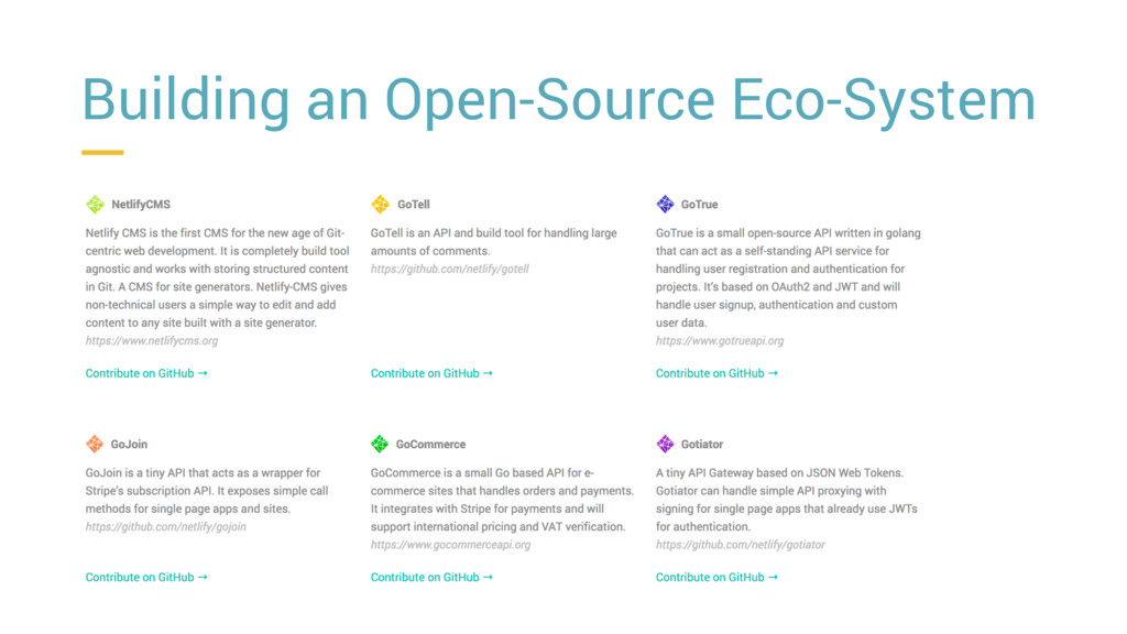 Building an Open-Source Eco-System