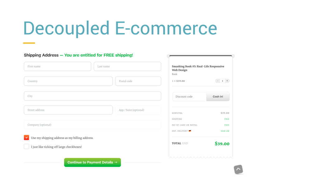 Decoupled E-commerce