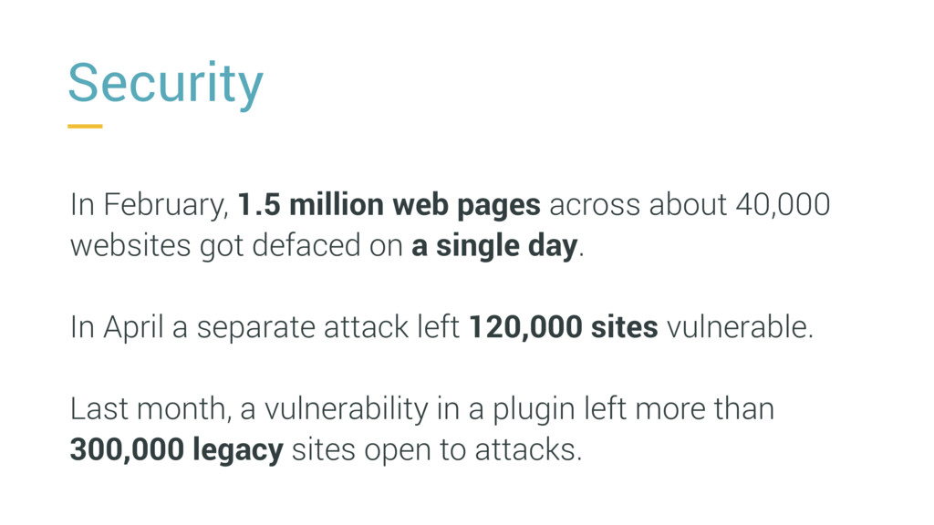 Security In February, 1.5 million web pages acr...