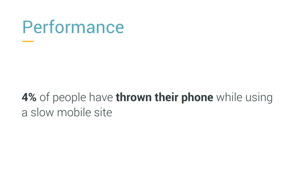 Performance 4% of people have thrown their phon...