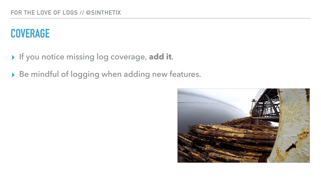 FOR THE LOVE OF LOGS // @SINTHETIX COVERAGE ▸ I...