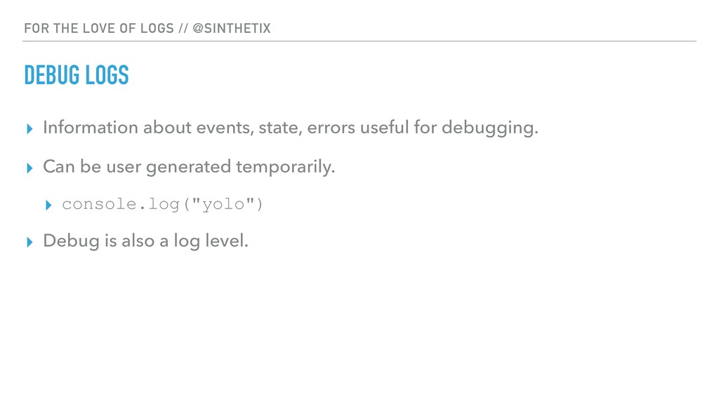 FOR THE LOVE OF LOGS // @SINTHETIX DEBUG LOGS ▸...