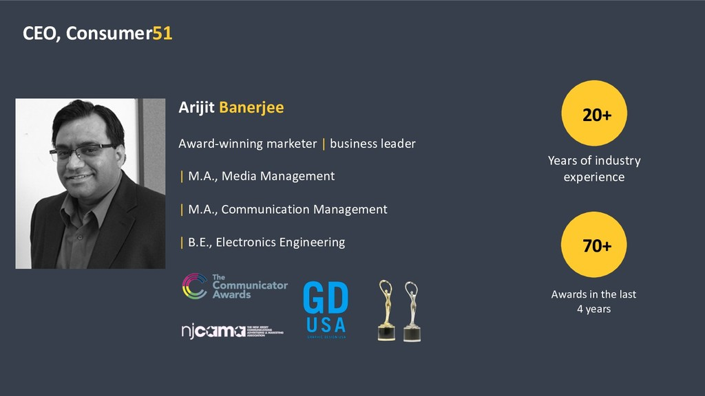 CEO, Consumer51 Arijit Banerjee Award-winning m...