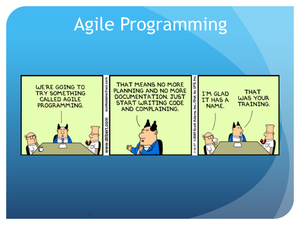 Agile Programming 32
