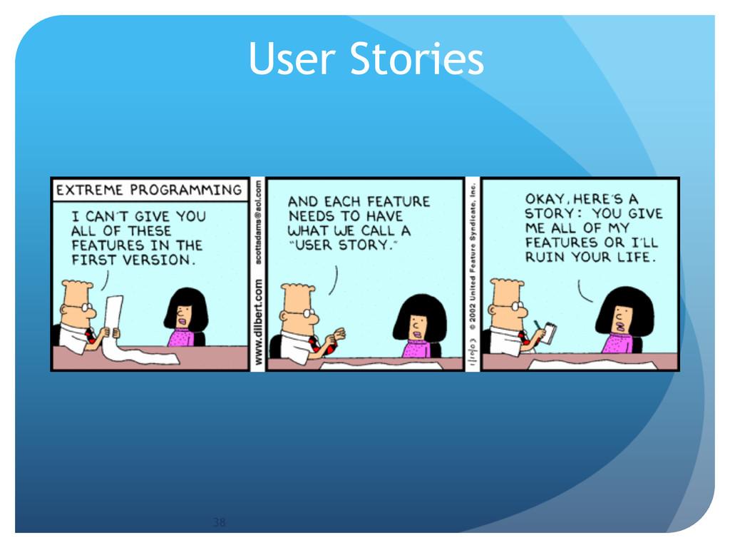 User Stories 38