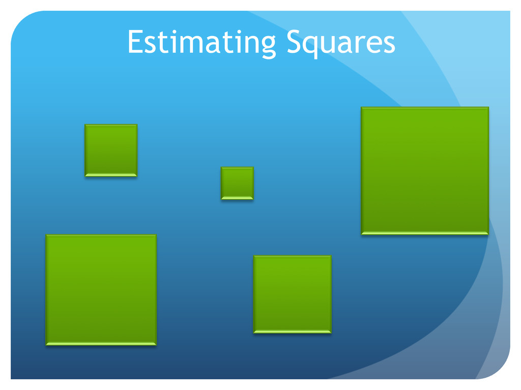 Estimating Squares