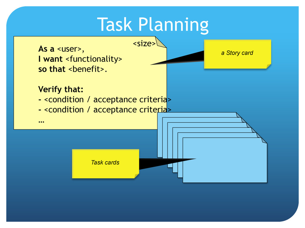 Task Planning As a <user>, I want <functionalit...