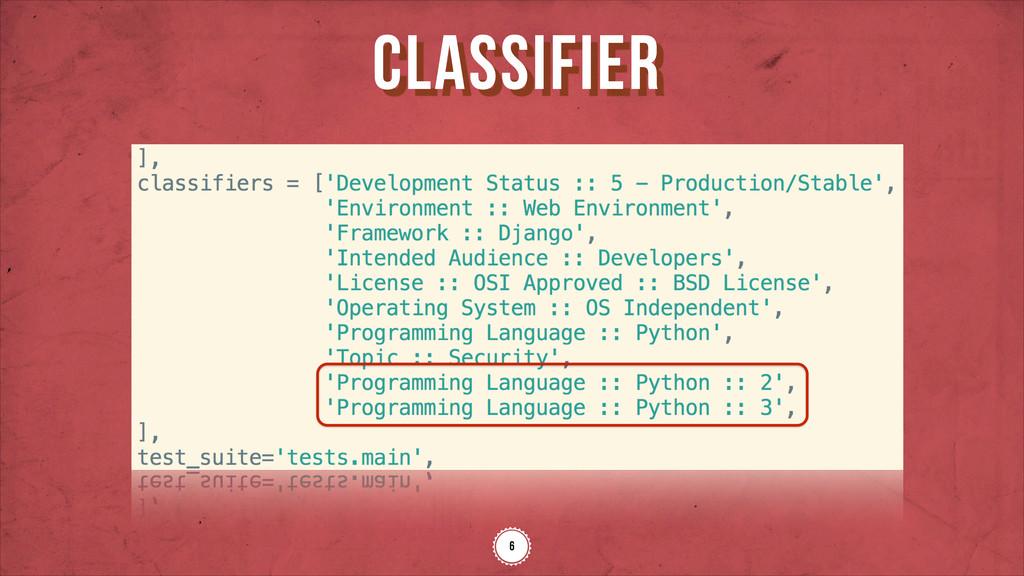 classifier 6