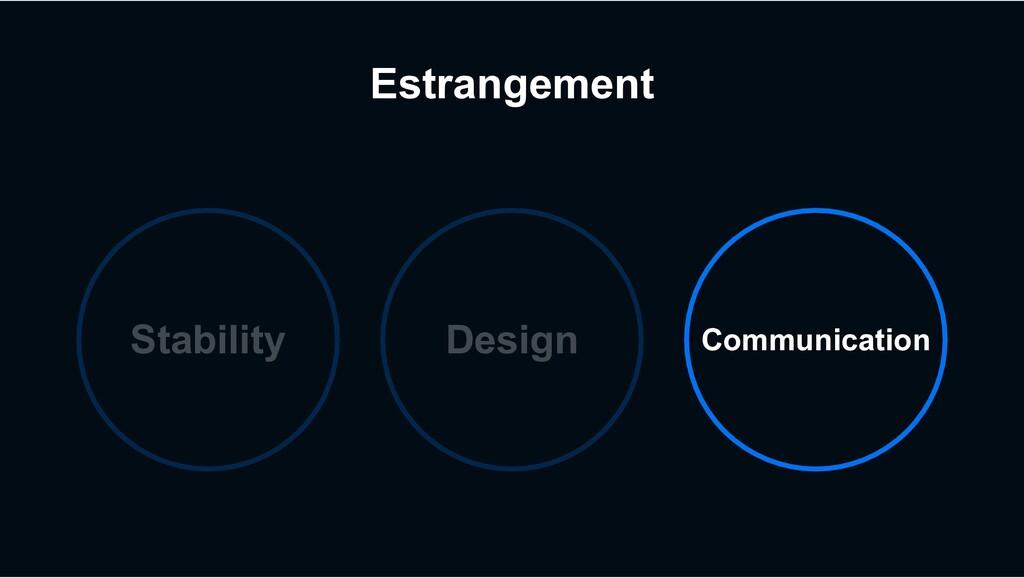 Estrangement Stability Design Communication