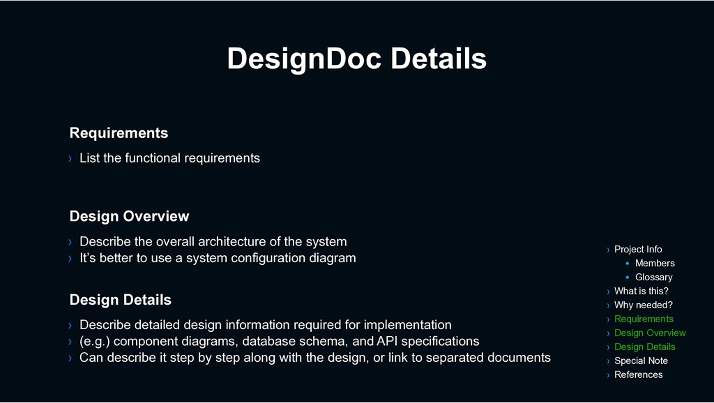 DesignDoc Details › Describe the overall archit...