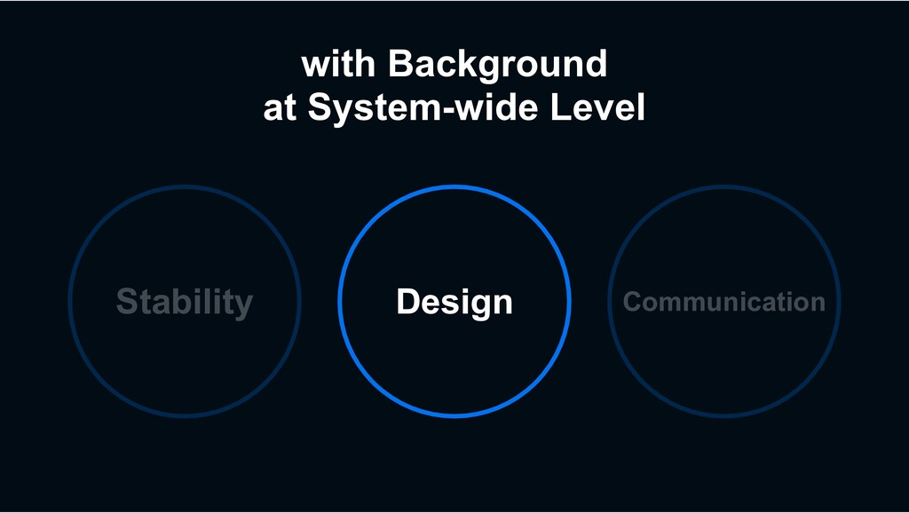 with Background at System-wide Level Stability ...