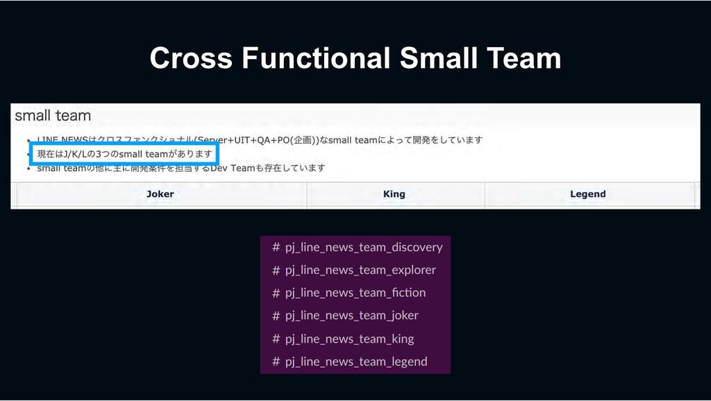 Cross Functional Small Team