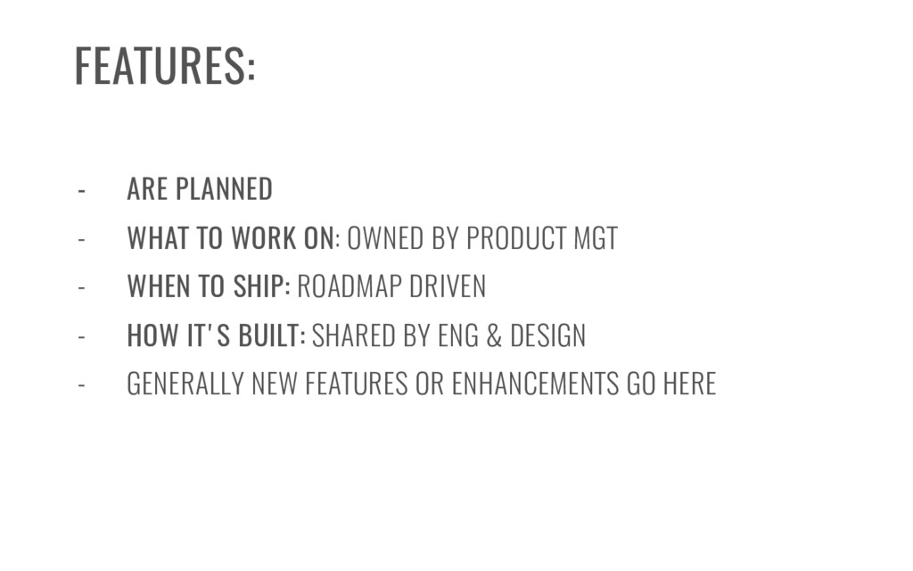 - ARE PLANNED - WHAT TO WORK ON: OWNED BY PRODU...