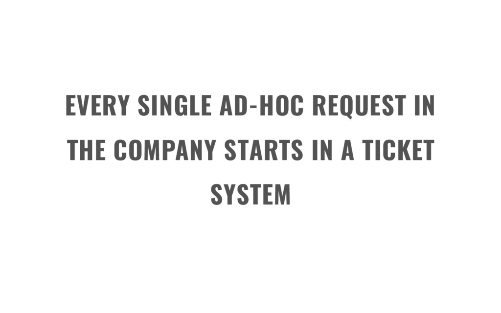 EVERY SINGLE AD-HOC REQUEST IN THE COMPANY STAR...