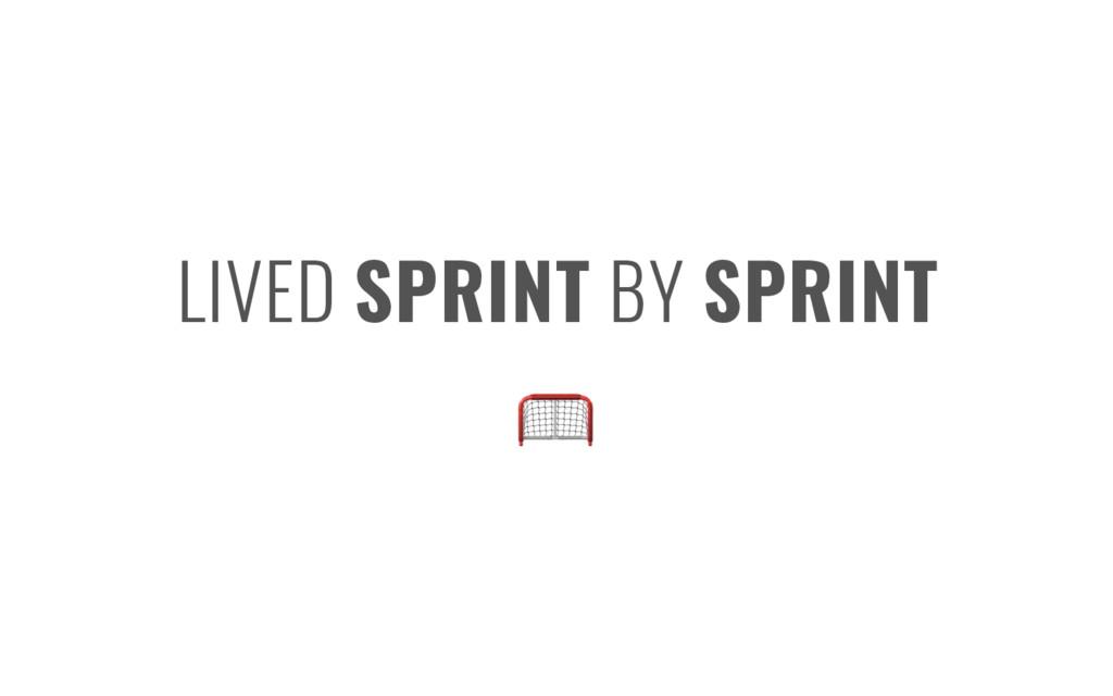 LIVED SPRINT BY SPRINT