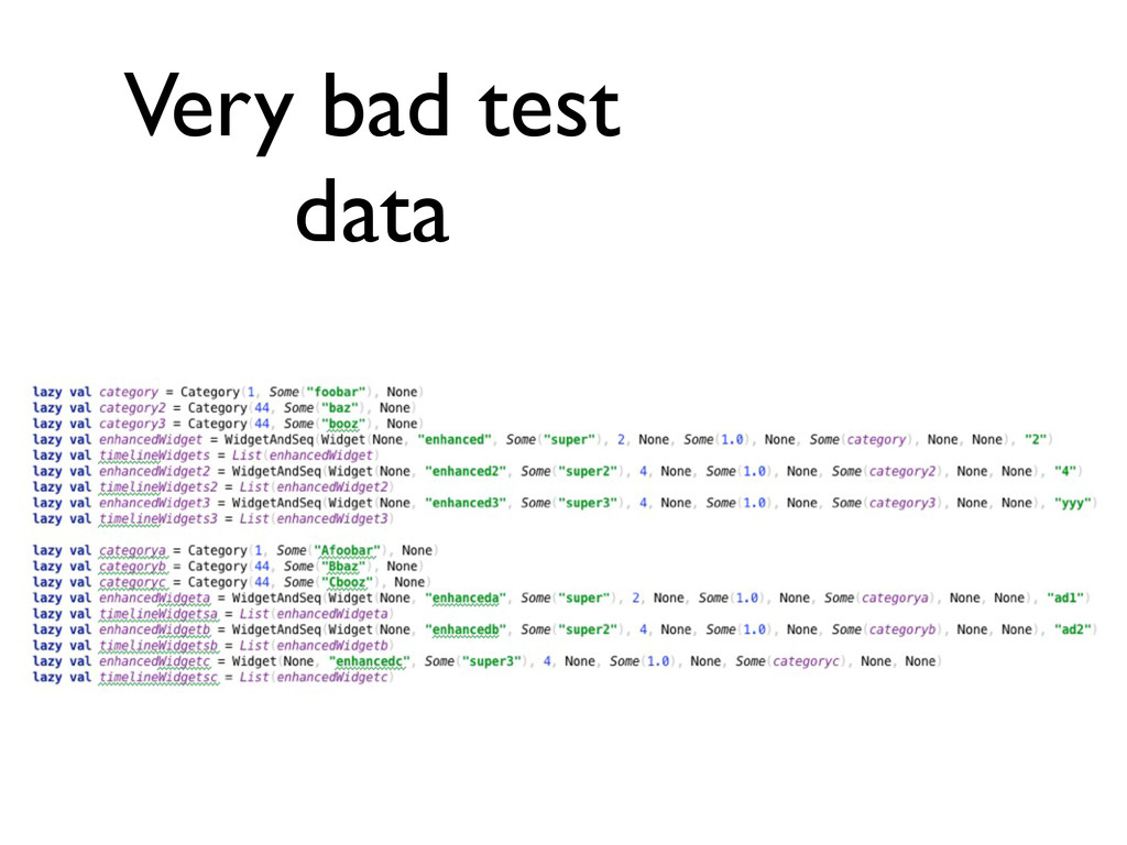 Very bad test data