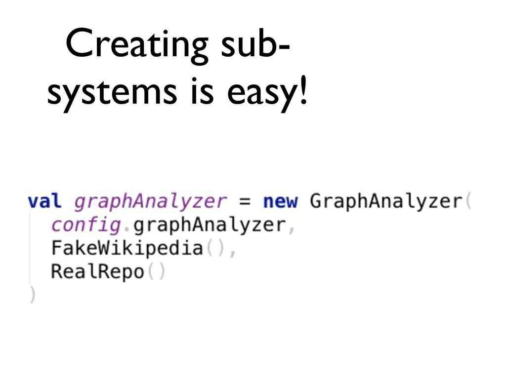 Creating sub- systems is easy!