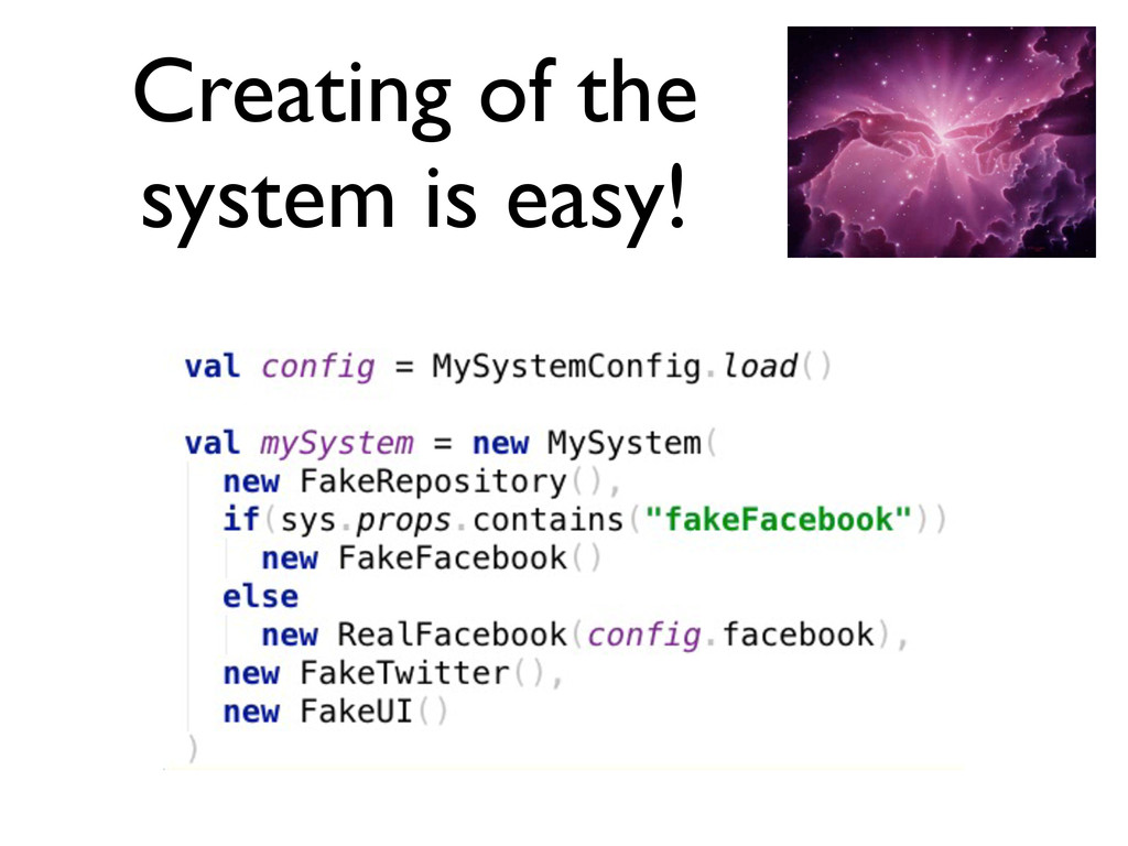 Creating of the system is easy!