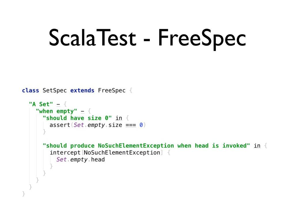 ScalaTest - FreeSpec