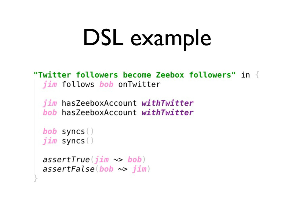 DSL example