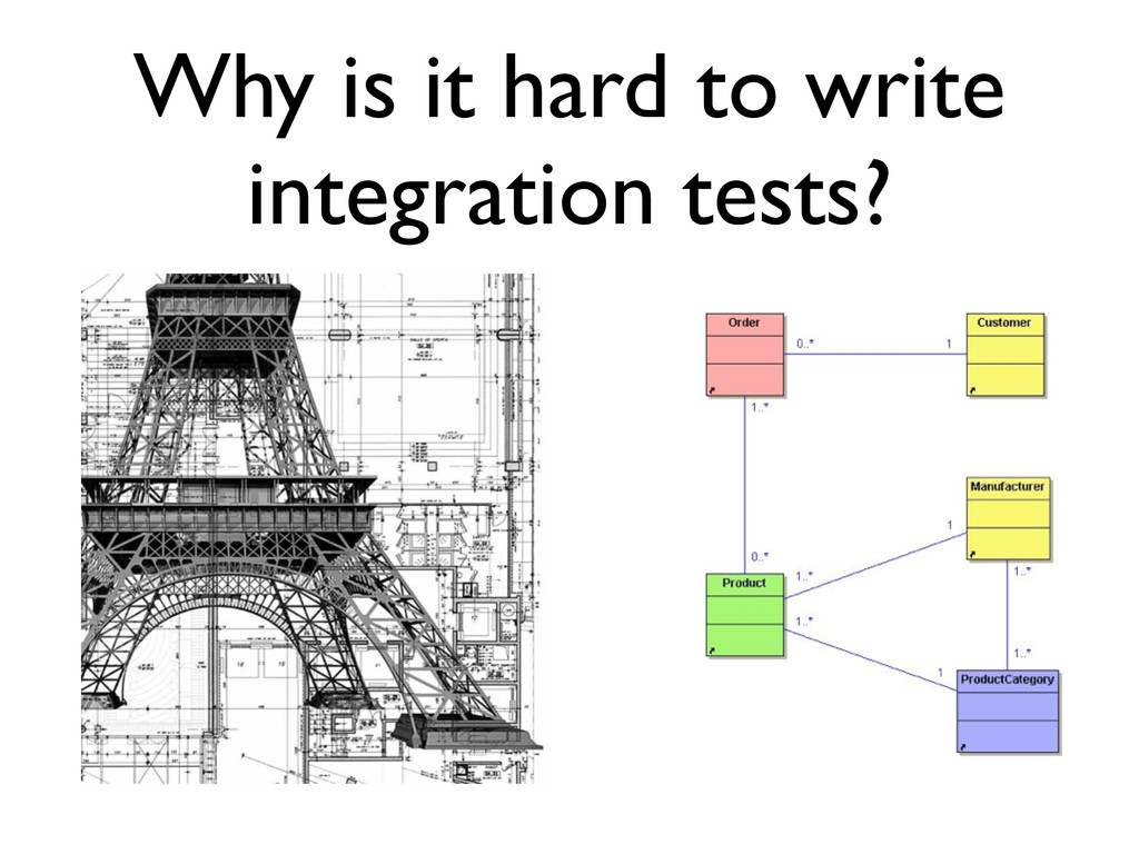 Why is it hard to write integration tests?
