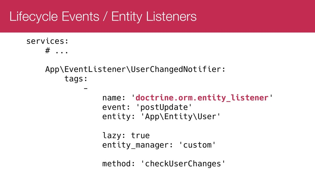 Lifecycle Events / Entity Listeners services: #...