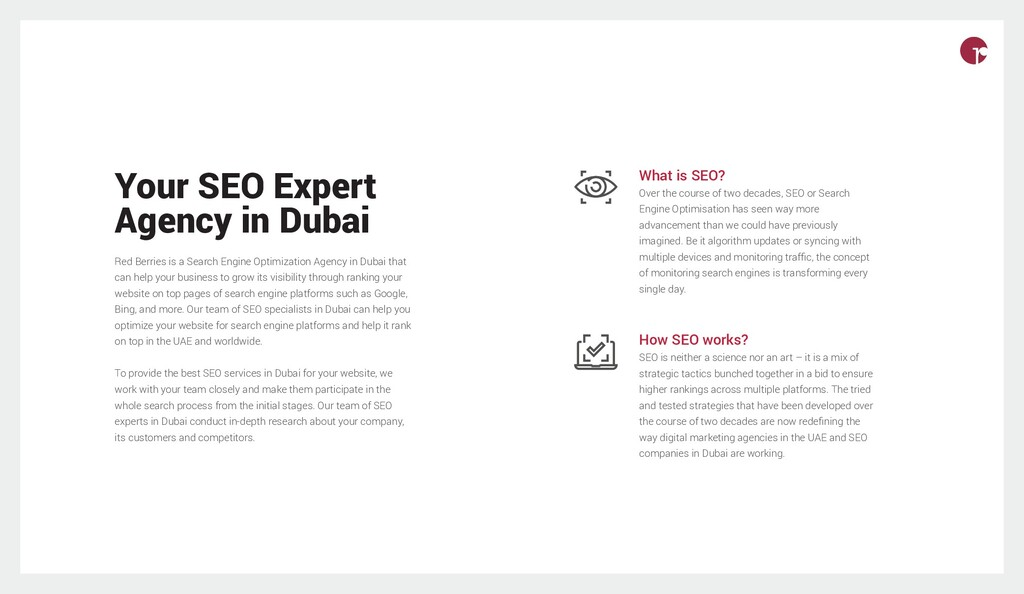 Your SEO Expert Agency in Dubai Red Berries is ...