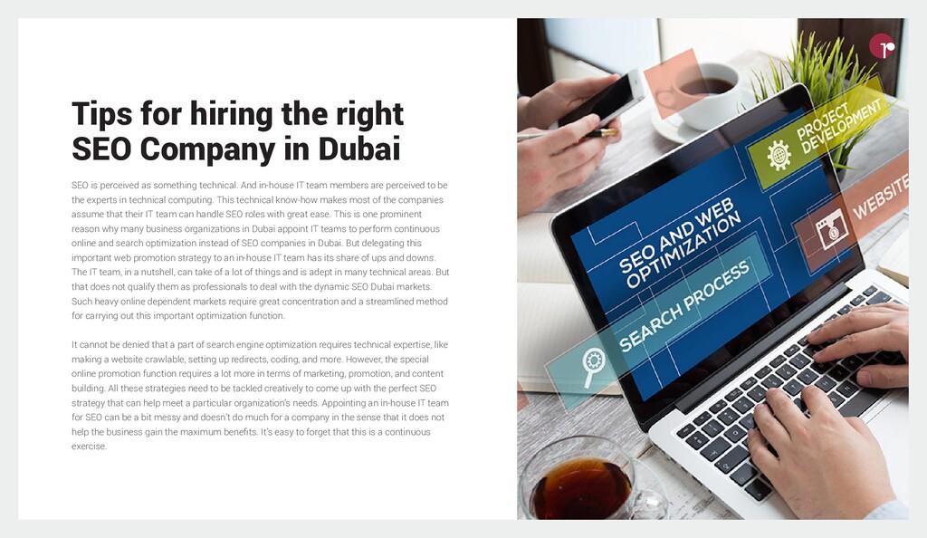 Tips for hiring the right SEO Company in Dubai ...