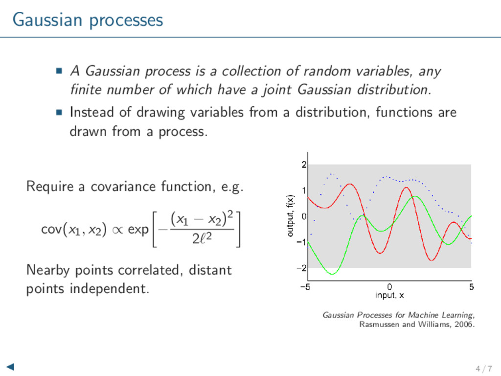 Gaussian processes A Gaussian process is a coll...