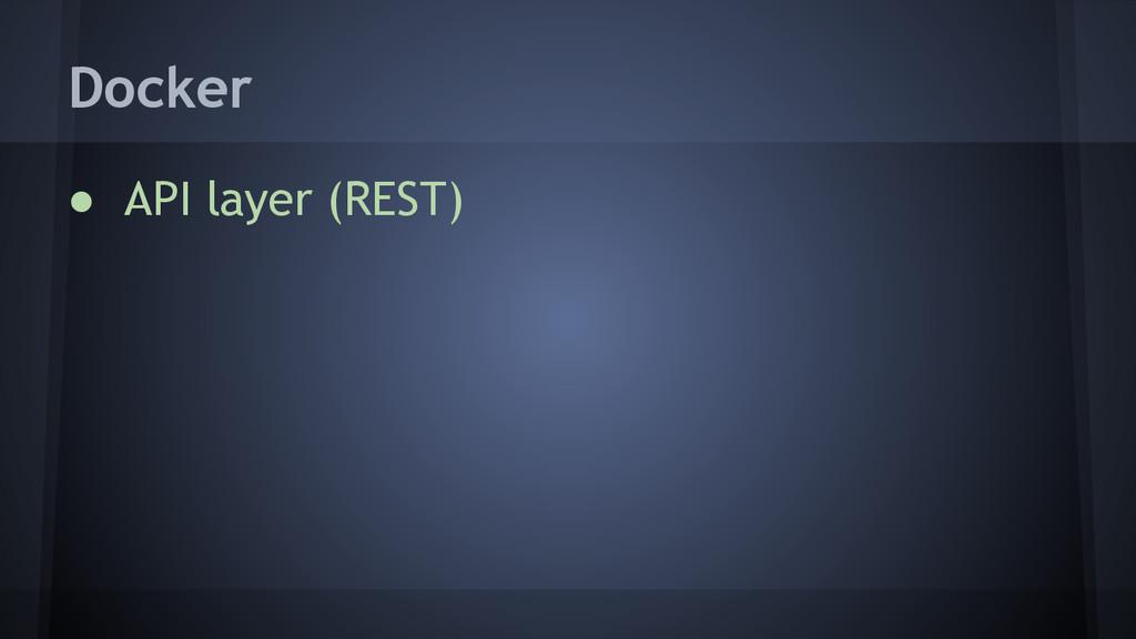 ● API layer (REST) Docker
