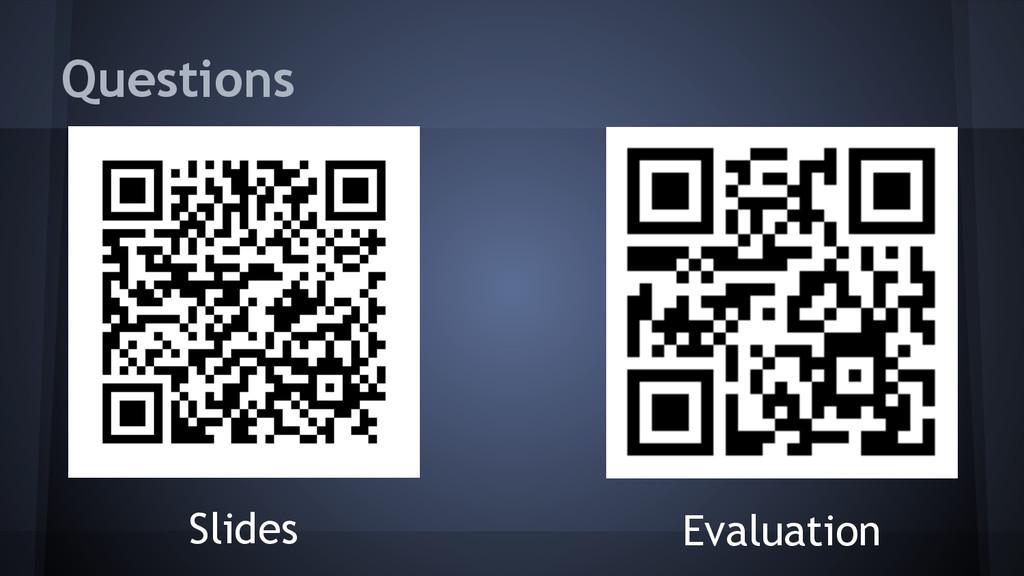 Slides Questions Evaluation