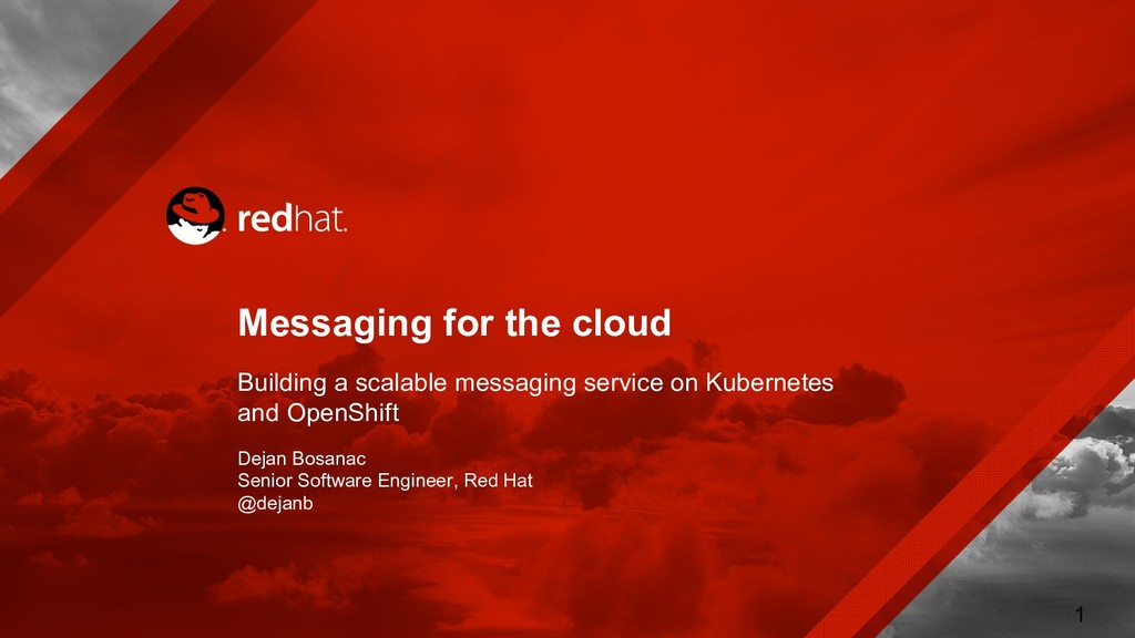 Messaging for the cloud Building a scalable mes...