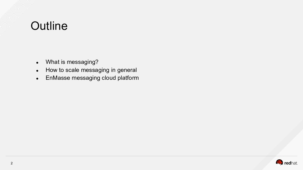 2 Outline ● What is messaging? ● How to scale...