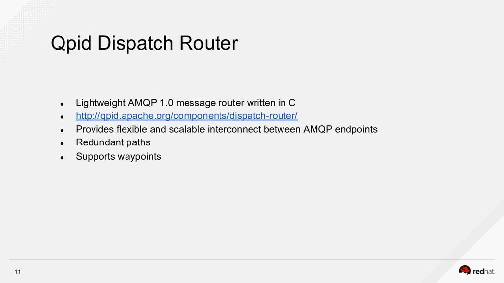 11 ● Lightweight AMQP 1.0 message router writt...