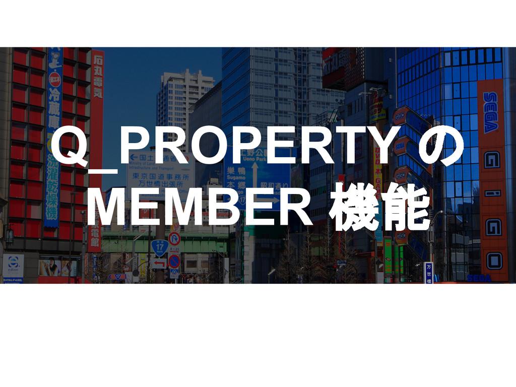 Q_PROPERTY の MEMBER 機能