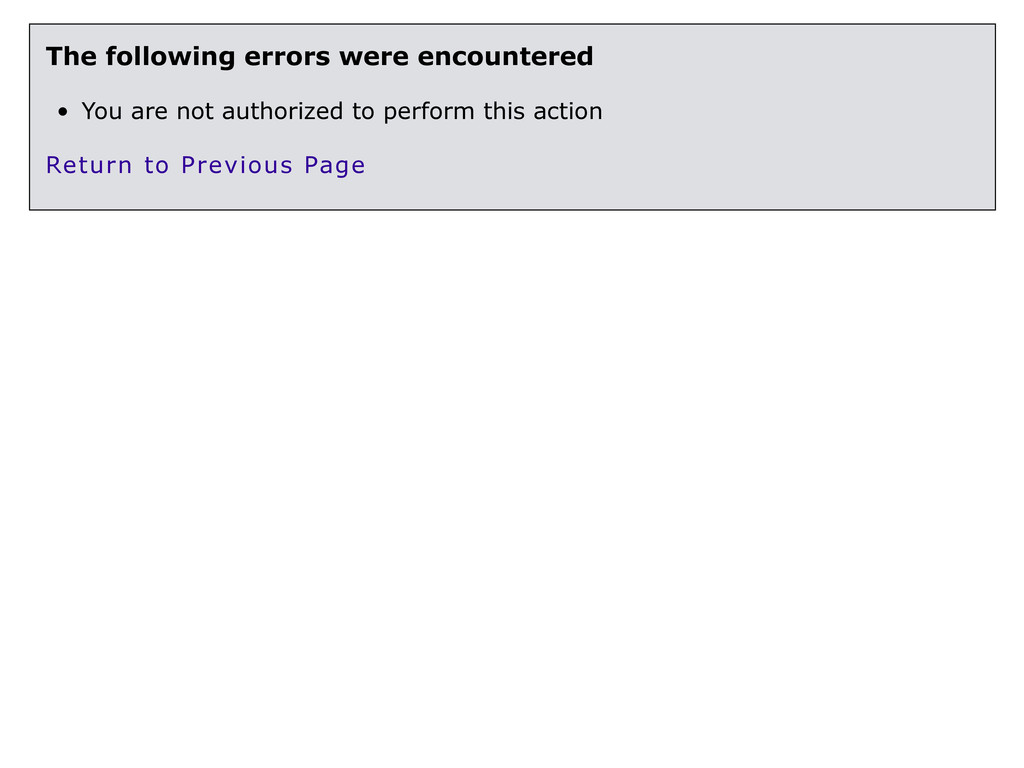 The following errors were encountered • You are...