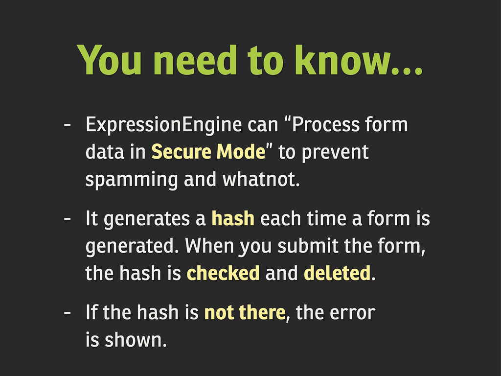"""You need to know... - ExpressionEngine can """"Pro..."""