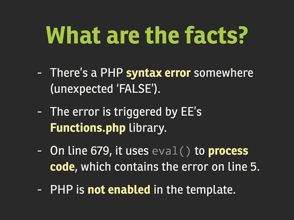- There's a PHP syntax error somewhere (unexpec...