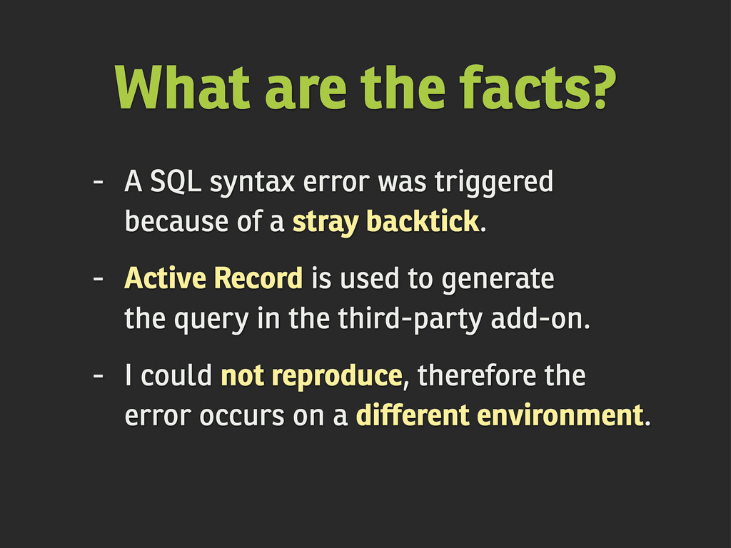 - A SQL syntax error was triggered because of a...
