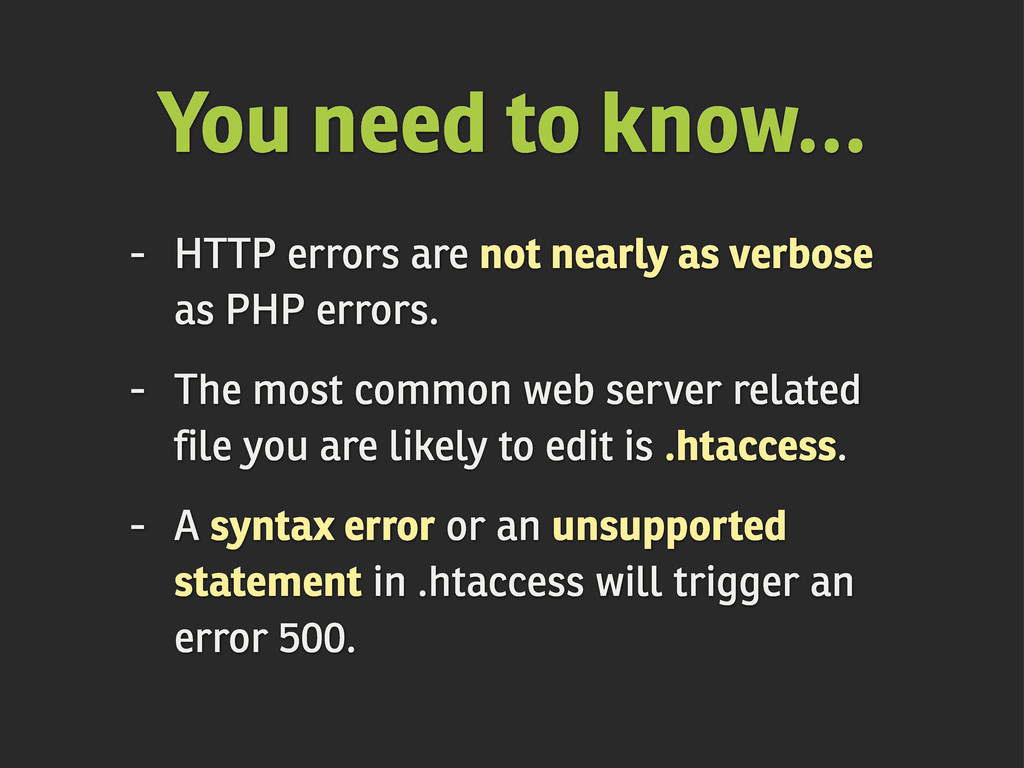 You need to know... - HTTP errors are not nearl...