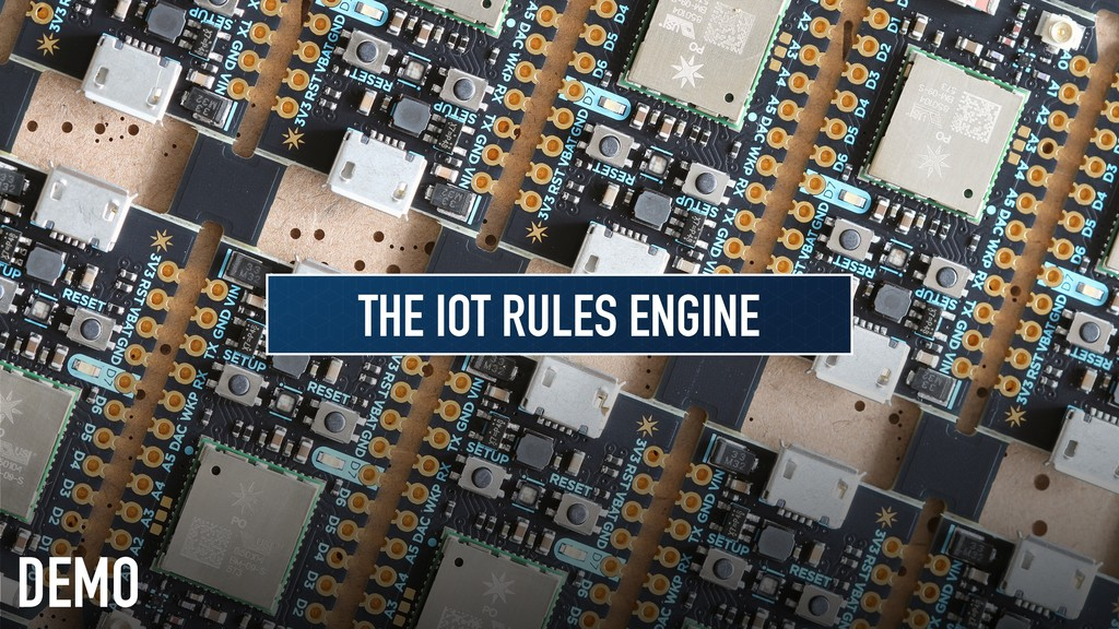 DEMO THE IOT RULES ENGINE