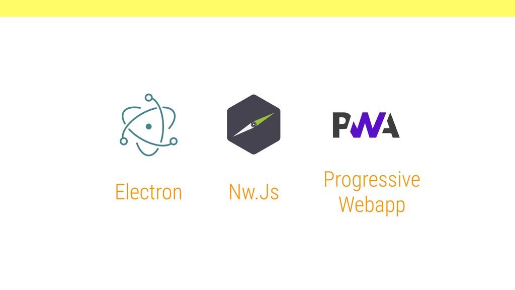 Electron Nw.Js Progressive Webapp